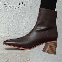 Krazing pot/Новинка в простом стиле гладиаторы натуральная кожа