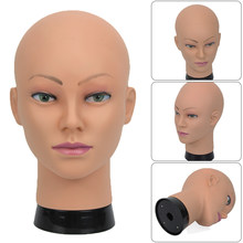 AFRO African Bald Doll head Mannequin Head For Making Wig Hat Display Cosmetology Manikin Head Female Dolls Training Head(China)