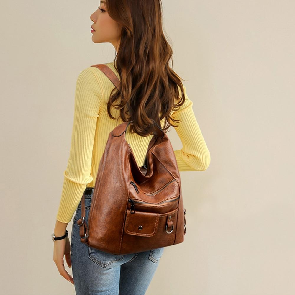 2020 NEW hot Women Leather Handbags Women Messenger Bags Designer Crossbody Bag Women Bolsa Top-handle Bags Tote Shoulder Bags 6