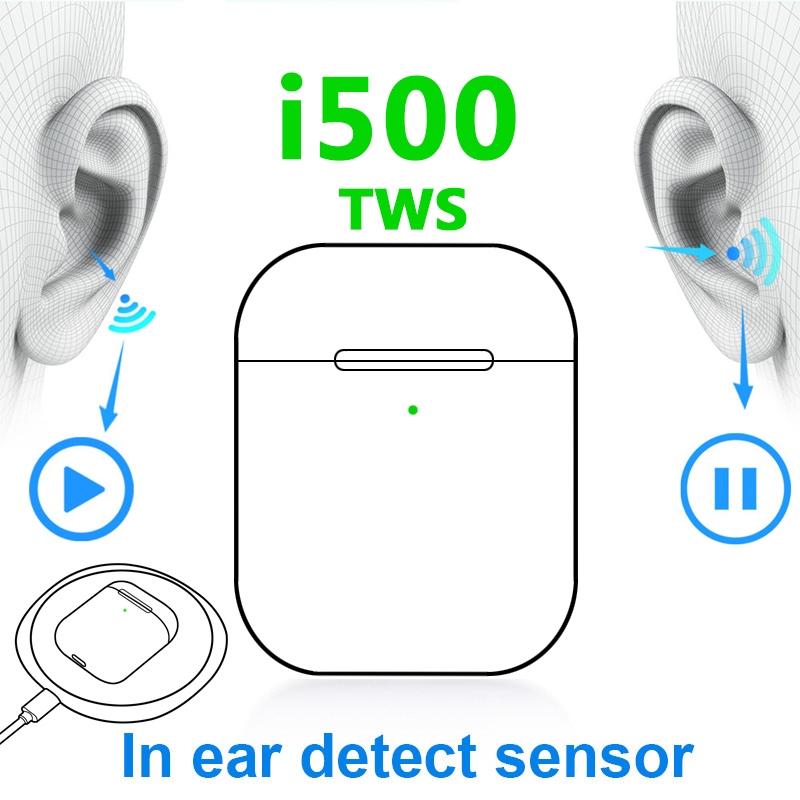 Original i500 TWS Air2 Earphone Wireless Bluetooth Headset Sports Headphones Stereo Earbuds for all mobile devices <font><b>LK</b></font> <font><b>TE9</b></font> image