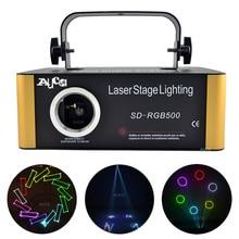 Sd kaart Dmx Rgb Kleur Bewerkbare Ild Animatie Muziek Laser Projector Strobe Lichten Disco Party Dj Club Stage Kleur Muziek verlichting