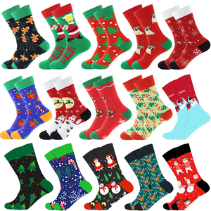Christmas Tree Snow Elk Gift Cotton Happy Socks PEONFLY New 2020 Autumn Winter Christmas Socks Men Funny New Year Santa Claus