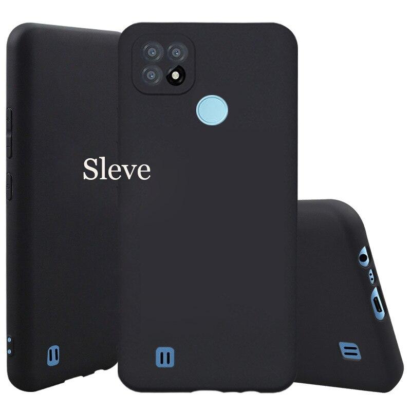 Чехол для Realme C21, черный мягкий матовый защитный чехол из ТПУ для объектива Realme C21