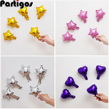 50pcs 5inch Foil Star Balloons Heart balloon Wedding Decoration Silver Gold Heart Balloons Birthday Baby Shower Wedding Supplies