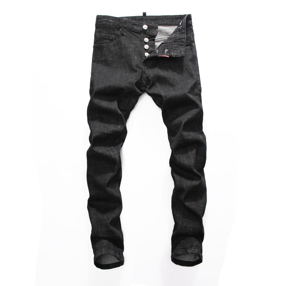 DSQ NEW Men Jeans Ripped For Men Skinny DSQ Jeans Pants Men Jeans  Button Outwear Man Pants