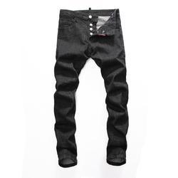 DSQ NIEUWE Mannen Jeans Geript voor Mannen Skinny DSQ Jeans Broek Mannen Jeans Knop Uitloper Man Broek