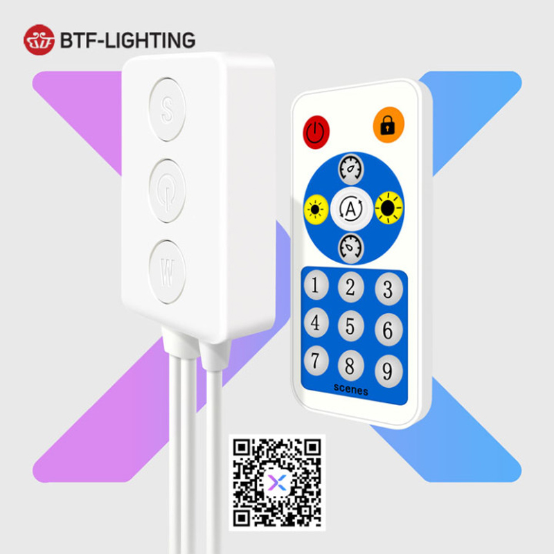 SP601E WS2812B WS2811 Music Controller Built In Mic Dual Signal Addressable Pixels LED RGB Strip Light IOS/Android App DC5V-24V