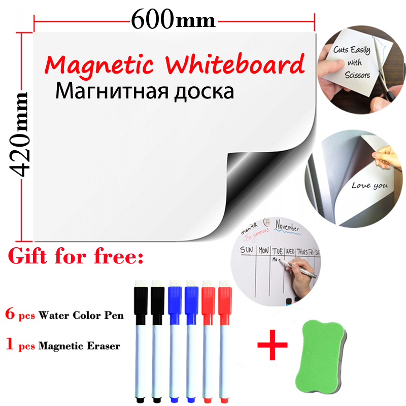 Size 420*600mm Soft Whiteboard School Dry Eraser For Child Message Board Fridge Stickers Kids Board Message Board Memo Boards