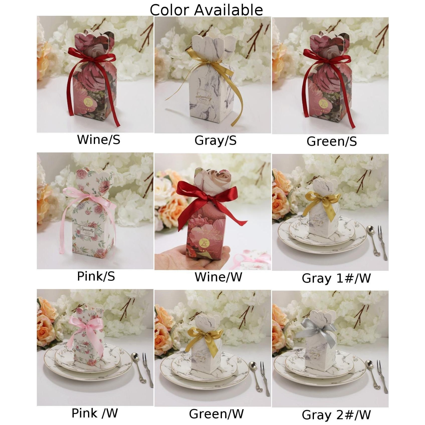 Wedding Sweet Cake Candy Boxes Gift Box Birthday Party Favour Baby Shower-Favors