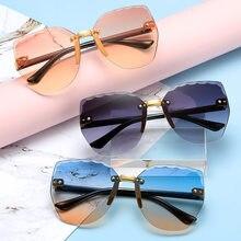Sonnenbrillen Rahmenlose Trimmen Welle Sonnenbrille Candy Farbe Baby Kreative Flut Rahmenlose Metall