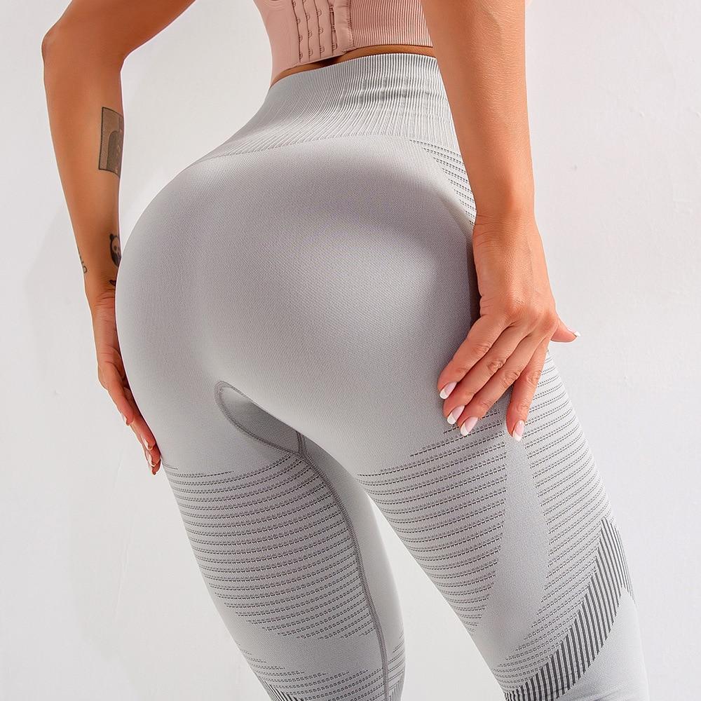 SALSPOR Women's Sexy Fitness Leggings Seamless High Waist Push Ups Hollow Legging Female High Elastic Slim Breathable Jeggings