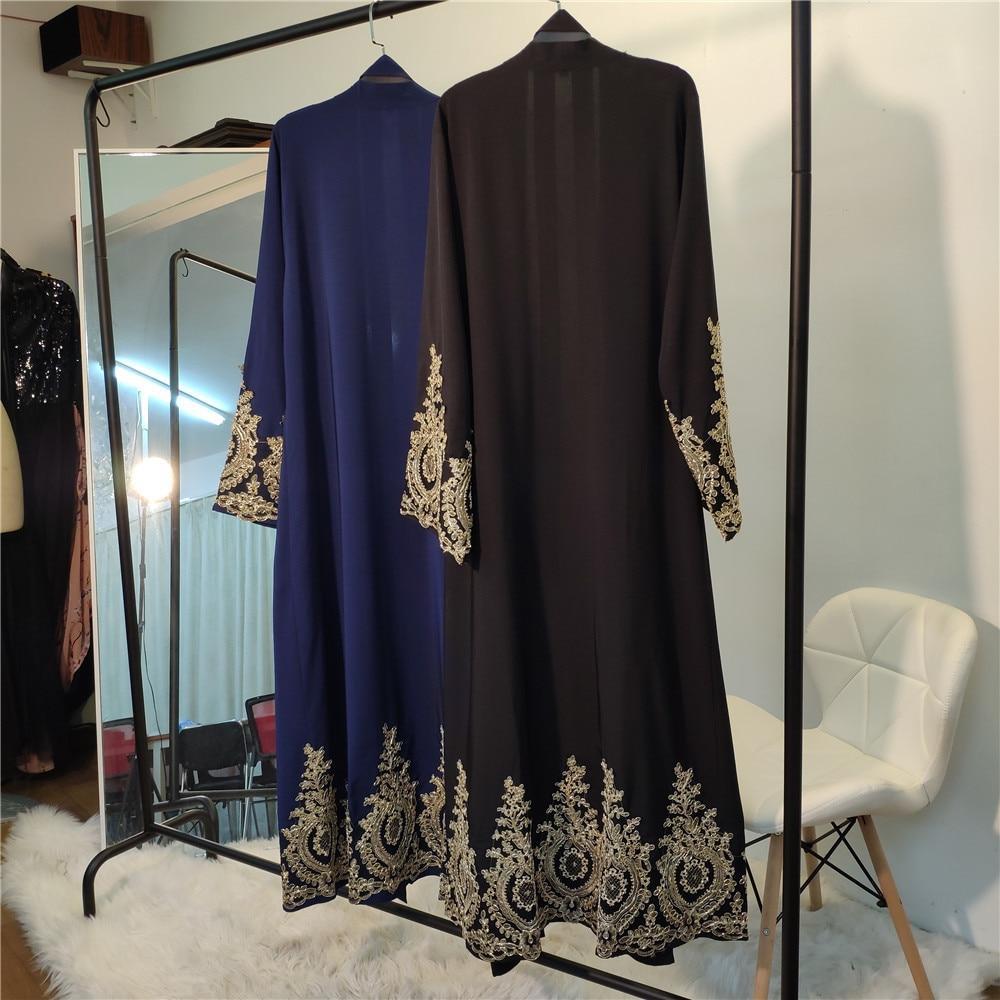 robe rendas hijab festa outwear túnica oriente