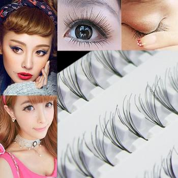 60Pcs Women Makeup Naturaler Long False Eyelash Cluster DIY Eye Lashes Extension Each tray comes with 60 lashes, they are all image