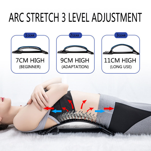Back Stretch Waist Relax Mate with Magic Massage Fitness Equipment Lumbar Support Neck Spine Pain Relief Yoga Assist Massageador 6