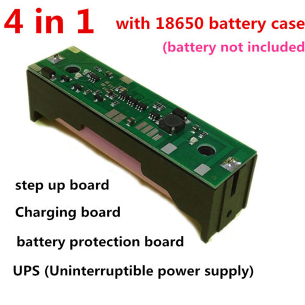 Durable DC 5V 6V 9V 12V 4 In 1 Extended 18650 Battery Raspberry Pi Power Band UPS  Charging Practical Step-up Board Electric 5W