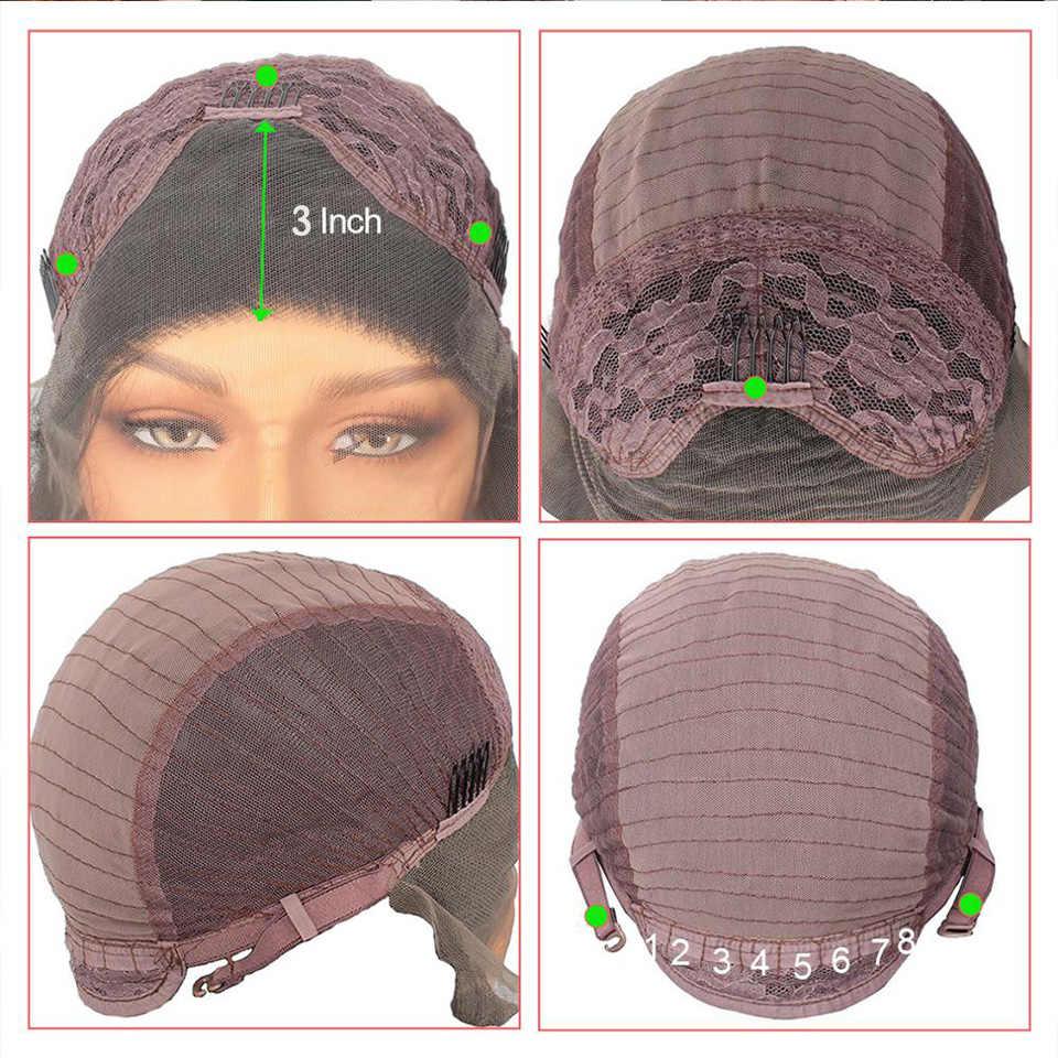 Leeven 24 pink pink rosa roxo cobre peruca dianteira do laço sintético longo ondulado perucas para mulher 613 loira peruca de gengibre perruque cabelo feminino