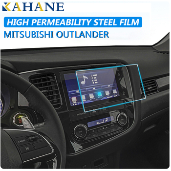 KAHANE Car Center Console LCD Screen Sticker GPS Navigation Screen Tempered Steel Protective Film FOR Mitsubishi Outlander 16-19 image