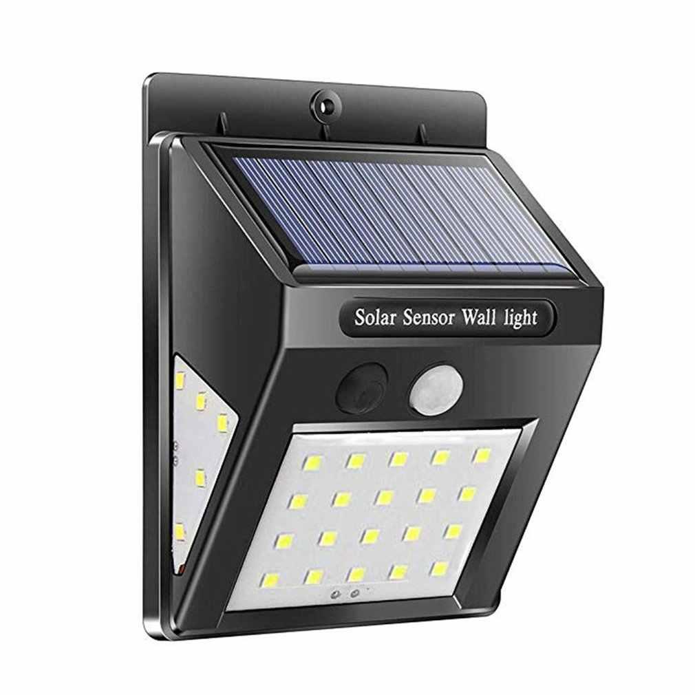 Водонепроницаемый 20 светодиодный светильник на солнечной батарее с датчиком движения, настенный светильник, уличный садовый светильник