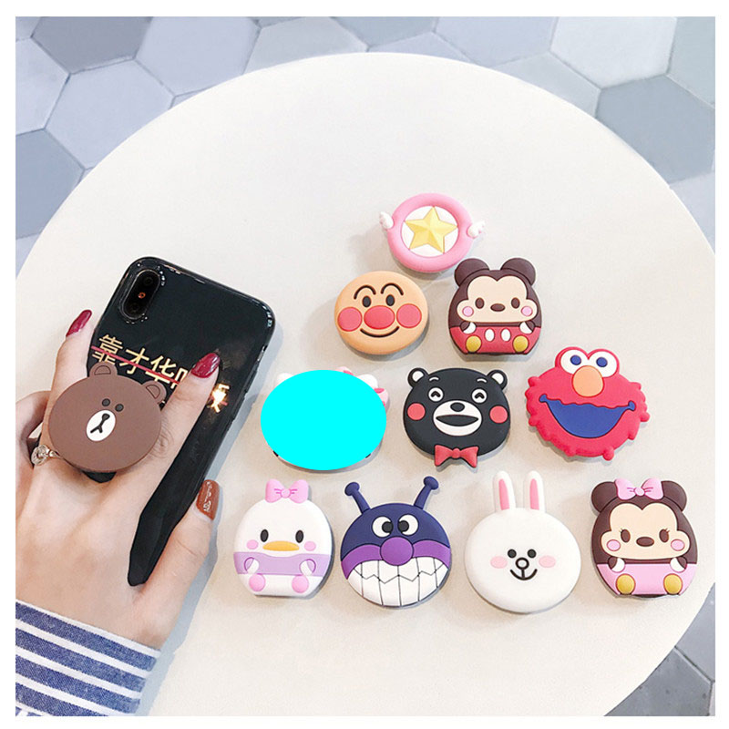 Wangcangli Universal Mobile Phone Holder Cute 3D Animal Airbag Mobile Phone Extension Bracket Holder Phone Phone Bracket Finger