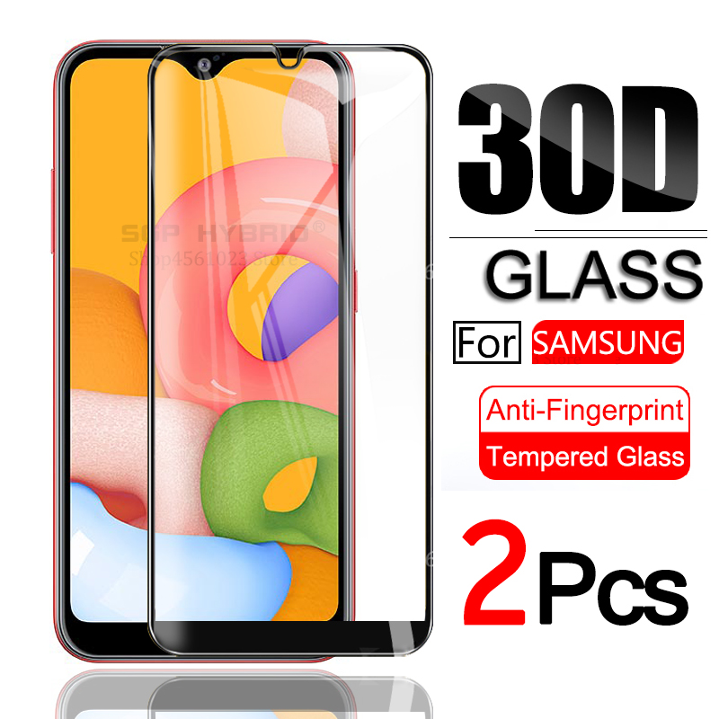 2Pcs Protective Glass For Samsung Galaxy A01 A 01 Screen Protector On Sansung Samsumg A01 A 01 Tempered Glass SM-A015F/DS Sklo