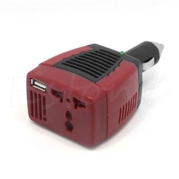 Adaptador inversor de corriente para coche, DC 12V a AC 220V 75W, 1 unidad, USB 5V