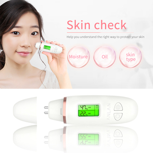 Image 3 - Анализатор содержания масла кожи ЖК цифровой увлажнение кожи на лице метр на батарейках уход за кожей Тестер монитор детектор