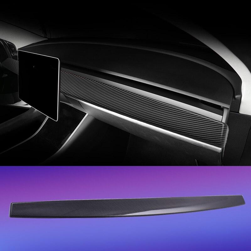 Garniture de tableau de bord pour tesla modèle 3 accessoires/modèle de voiture y modèle 3 tesla trois tesla modèle 3 carbone/accessoires model3
