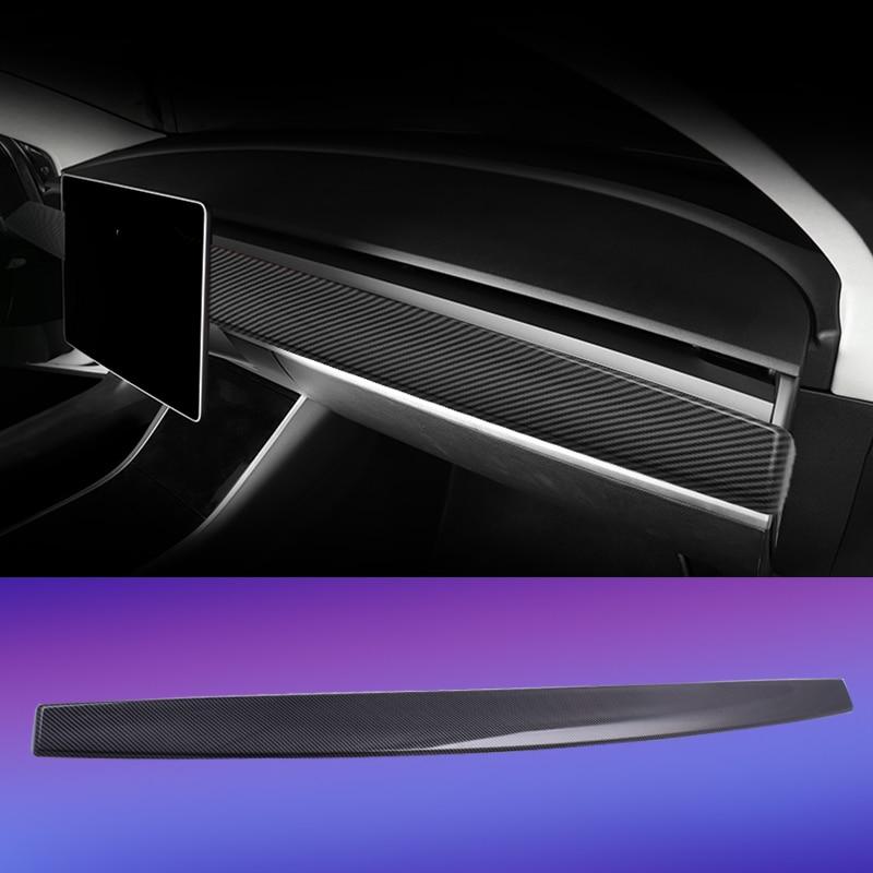 Instrument Panel Trim For Tesla Model 3 Accessories/car Model Y Model 3 Tesla Three Tesla Model 3 Carbon/accessoires Model3