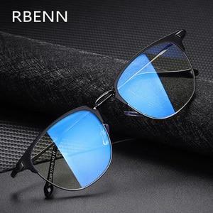 RBENN 2020 New Men's Anti Blue Light Computer Glasses Metal Frame Blue Light Blocking Gaming Glasses Anti Glare UV400