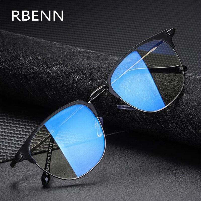 RBENN 2020 yeni erkek Anti mavi ışık bilgisayar gözlükleri Metal çerçeve mavi ışık engelleme oyun gözlükleri Anti parlama UV400