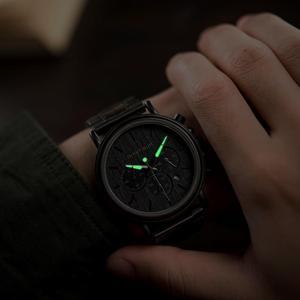 Image 2 - BOBO BIRD Wood Watch Men Stopwatch erkek kol saati Wooden Wristwatches Male Show Date Create Gift  saat erkek relogio masculino