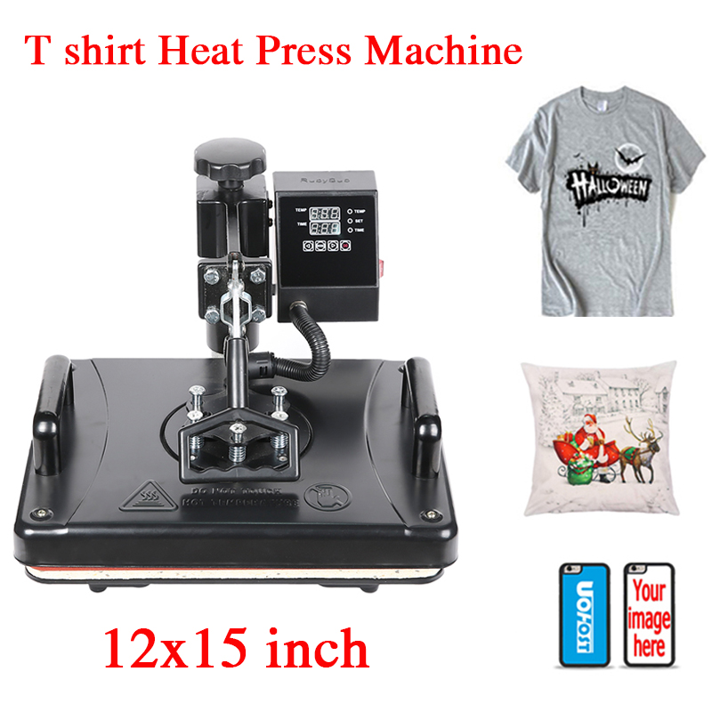 12x15 inch Double Display T shirt Heat Press Machine Sublimation Heat Tranfer Printer