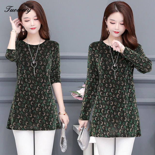 2020 New Women Shirt Floral O-neck Long-Sleeved Printedelegant 5XL Shirt Hot Autumn Spring Female Casual Blouse 4