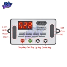 DC 6-30V Micro USB LED Display Delay Timer Controller Off Switch Auto Cycle Time Relay 6V 9V 12V 24V Voltage Protection