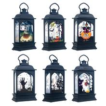 Halloween Vintage Pumpkin Castle Light Lamp Party Hanging Decor LED Lantern Supplies Bar Props 2019