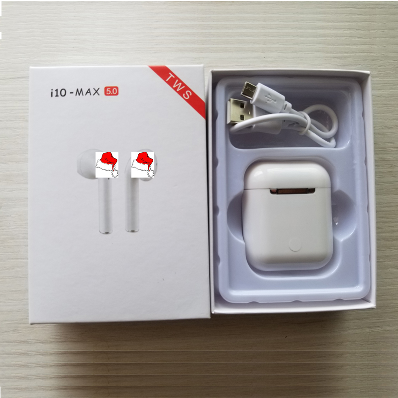<font><b>i10</b></font> Max <font><b>TWS</b></font> <font><b>Bluetooth</b></font> <font><b>5.0</b></font> earphone wireless headset Double Earbuds with Charging Box Mic pk <font><b>i10</b></font> i7s i9s i11 i12 <font><b>tws</b></font> image