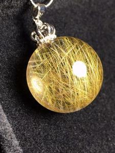 Image 4 - ธรรมชาติหินควอตซ์จี้ Ball ไทเทเนียมพลอย AAAAA 24 มม.จี้คริสตัลจี้