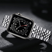 Pulsera para apple watch series 6, 5, 4 se, 44mm, 40mm, de lujo, de acero inoxidable, correa de Metal para iwatch 3, correa de 42mm y 38mm