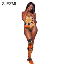 Rainbow Tie Dye Sexy Fitness Bodysuits Women Scoop Neck Sleeveless Beach Wear Overall  Summer Backless Plus Size Party Playsuit trendy scoop neck sleeveless animal print plus size dress for women