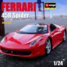 Bburago 1:24 FERRARI 458 Spider simulation alloy car model Collect gifts toy bburago 1 24 ferrari 550 maranello simulation alloy car model collect gifts toy