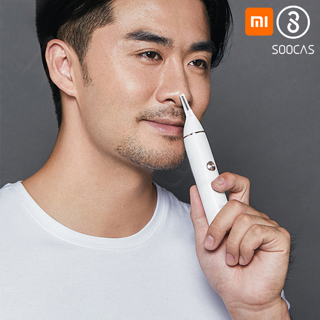 Soocas N1 Electric Nose Hair Trimmer Eyebrow Ear Hair Trimmer Portable Clipper Removal Blade Washable Nose Hair Clipper