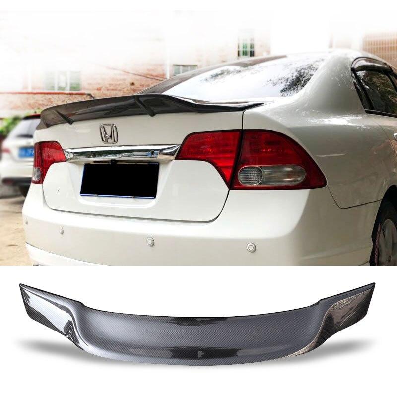 Aileron de coffre de voiture en Fiber de carbone FRP aile de coffre arrière automatique accessoires de Style R Spoiler pour Honda Civic 2006-2011