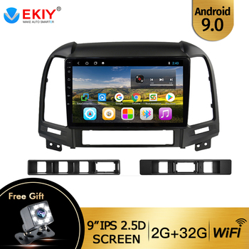 EKIY 9 IPS 2din Car Radio For Hyundai Santa Fe 2 2006-2012 Android 9.0 Multimedia Stereo Audio Player WIFI USB Bluetooth Carplay image