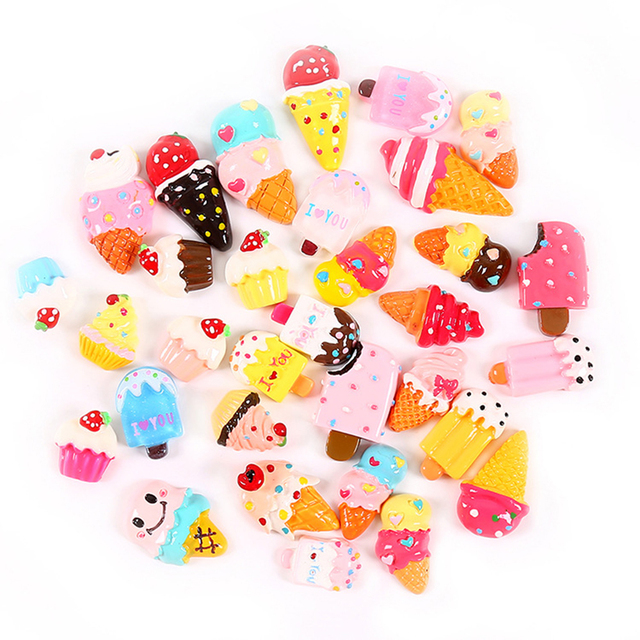 Ice Cream DIY Slime Supplies Putty Fake Sprinkles Charms For Slime Filler Stress Relief Accessories Toy Model Tool Slime Kit