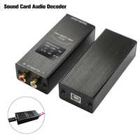 FX-Audio FX-01 USB DAC soundkarte audio decoder abtastrate display SA9023 PCM5102 24BIT 96K