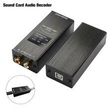 Fx áudio FX 01 usb dac placa de som decodificador de áudio taxa de amostragem exibição sa9023 pcm5102 24bit 96 k