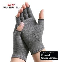 Worthing 1 para kompresji zapalenie stawów rękawice wsparcie nadgarstka bawełna wspólne ulga w bólu rąk Brace kobiety mężczyźni terapia nadgarstek