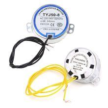 220-240 В переменного тока 5/6 об/мин вентилятор синхронный двигатель мотор 4W CW/CCW 50/60HZ 1 шт