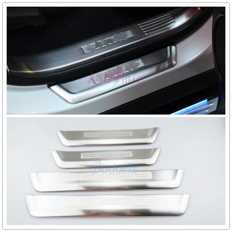 Stainless Steel Door Sills Bumper Guard Plate Protector Car Styling 2016 <font><b>2017</b></font> 2018 for <font><b>lexus</b></font> <font><b>RX</b></font> 450h 350 270 Accessories image