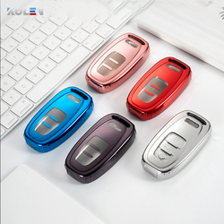 Soft Tpu Car Remote Key Case Full Cover Fob For Audi A1 A3 A4 A5 A6 A7 A8 Quattro Q3 Q5 Q7 S5 S7 S5 S6 S8 S7 Splash Proof Shell